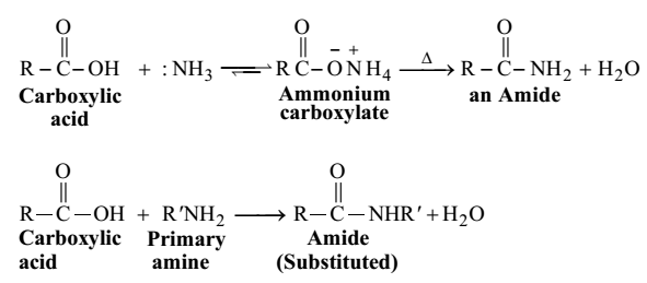 formation of amides Sustainable amine production through hydrogenation of amides under mild conditions the formation of amines from amides is of great interest.