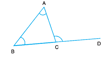 Properties of triangle study page - The exterior angle of a triangle is equal to ...