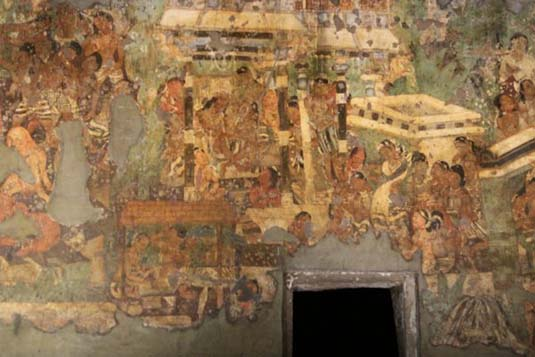 Cultural development during gupta period for Ajanta mural painting